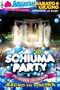 Schiuma party aquafan 8 giugno