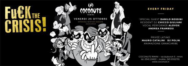 Coconuts Rimini venerdi 25 ottobre 2013