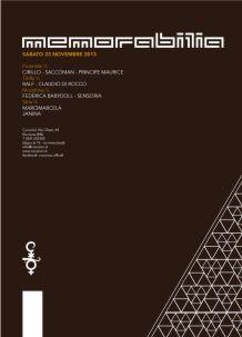 Cocorico Riccione – Memorabilia – 23 Nov 2013