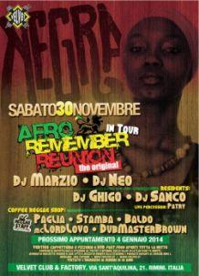 Velvet Rimini negra 30 novembre