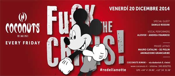 Coconuts Rimini fuck the crisis 21 dicembre 2013