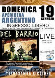Aperitivo Latino al Terrasamba 19gen2014