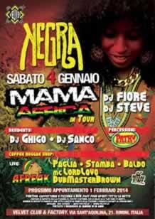 Velvet Rimini NEGRA Sab 5 gen 2014