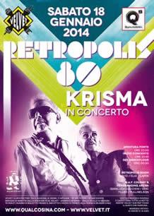 Festa Retropolis 80 al Velvet 18 gen 2014
