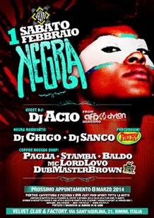 Festa Negra al Velvet Rimini 1 Feb 2014