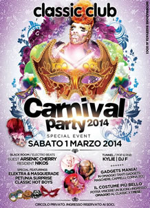 Carnival Party 2014 al Classic Club