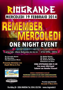Rio Grande Remember Mercoledì 19 feb 2014