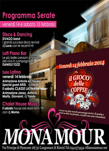 Week-end San Valentino 2014 al Mon Amour