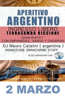 Aperitivo Argentino al Terrasamba Marzo