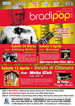Revenga in concerto al Bradipop 5 aprile