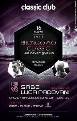 Buon Giorno Classic Club 16 Marzo 2014