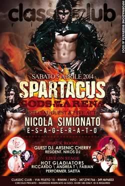 Serata Spartacus al Classic Club