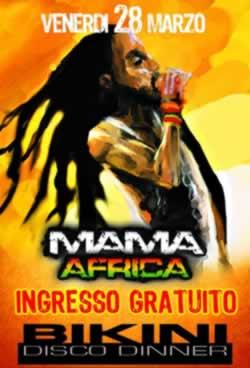 Mama Africa al Bikini Cattolica 28 Marzo
