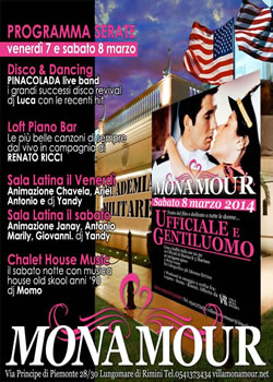 monamour weekend 7-8 marzo 2014