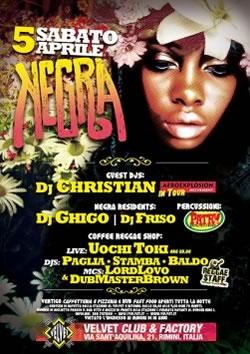 Festa Negra al Velvet Rimini il 5 Aprile