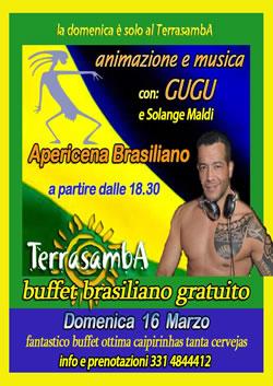 Apericena Brasiliano al Terrasamba 16 Mar 2014
