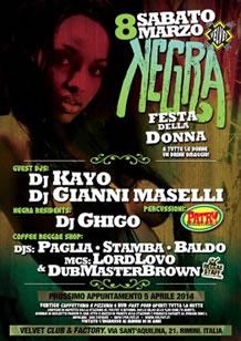 Festa Negra al Velvet Rimini 8 Mar 2014