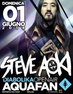 Steve Aoki allo Schiuma Party Aquafan