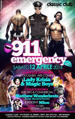 Serata 991Emergency al Classic Club