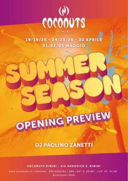 coconuts summer opening 24 aprile 2014