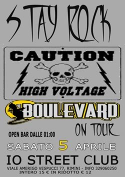 Boulevard Stay Rock al Io Club 5 aprile