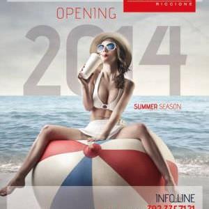 Inaugurazione estate 2014 Beach Cafè Riccione