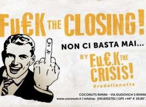 Fuck The Closing! al Coconuts Rimini