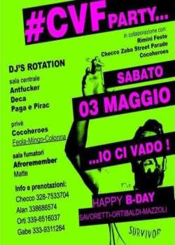 CVF Party all'Io club Rimini