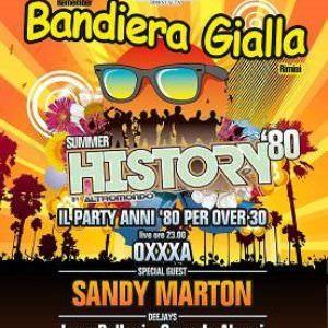 Sandy Marton alla Bandiera Gialla Rimini