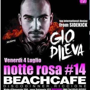 Gio di Leva alla Notte Rosa del Beach Cafè Riccione