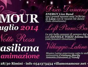 Speciale Notte Rosa 2014 al Monamour Rimini