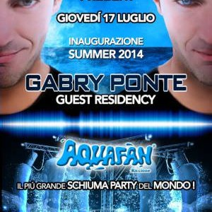 Schiuma Party Aquafan con Gabry Ponte