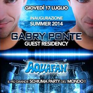 Gabry Ponte per il Primo Schiuma Party Aquafan