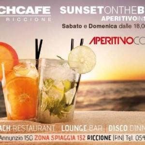 Sunset on the Beach Café Riccione