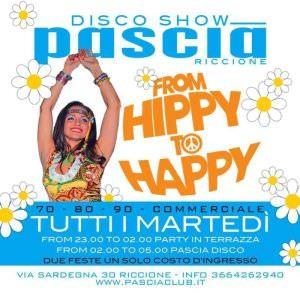 From Hippy to Happy al Pascià Riccione