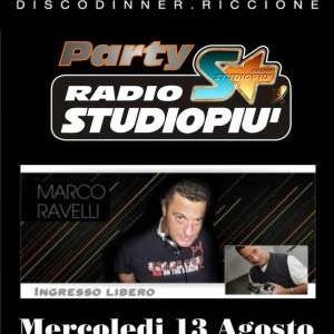 Marco Ravelli al Beach Café Riccione