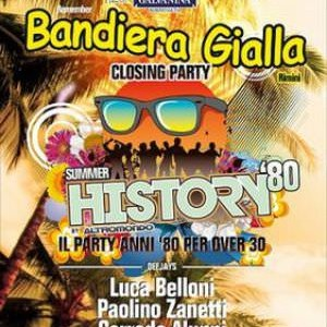 Closing Party History Bandiera Gialla 2014