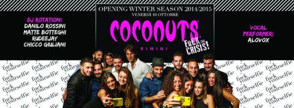 coconuts rimini 10 ottobre 2014