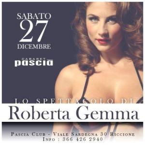 Nuovo spettacolo di Roberta Gemma al Pascià Riccione