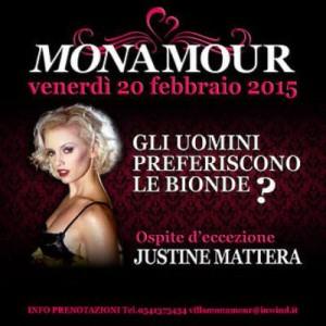 Justine Mattera ospite al Monamour Rimini
