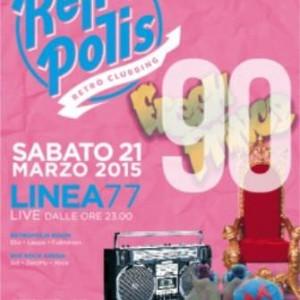 Festa Retropolis con LINEA77 al Velvet