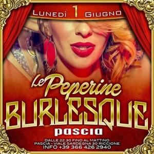 Le Peperine in Burlesque al Pascià Riccione
