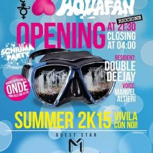 Marracash all'apertura dello Schiuma Party Aquafan