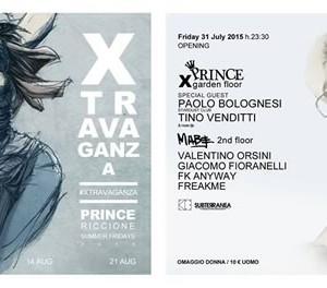 Paolo Bolognesi all'apertura di Xtravaganza al Prince Riccione