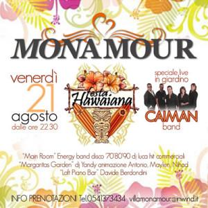 Festa Hawaiana al Monamour di Rimini con i CAIMAN