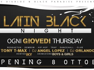 Latin Black Night ogni giovedì al Palacio Club