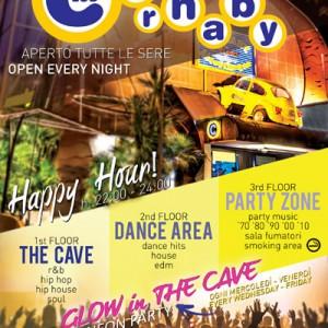 Tutti i giorni è Glow in The Cave al carnaby Rimini
