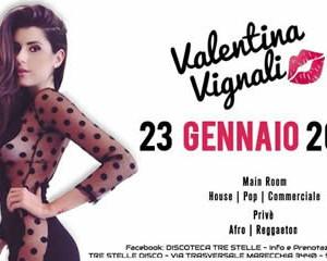 La bellissima Valentina Vignali ospite al Tre Stelle