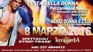 Festa della donna hot al Terrasamba Rimini