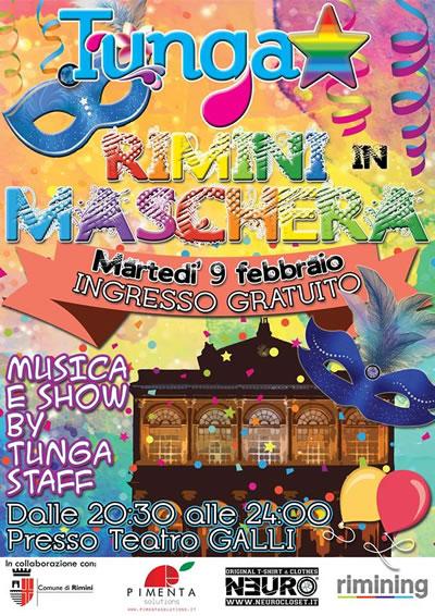 I TUNGA XXL presentano Rimini in Maschera